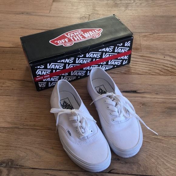 e5e6762c59c All white vans size 6.5. M 5be8beb3409c15d59ea49f55
